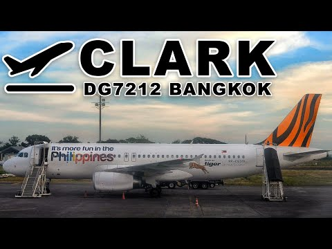 Take off at Clark International Airport, Angeles City, Pampanga Philippines | TIGERAIR FLT DG7212