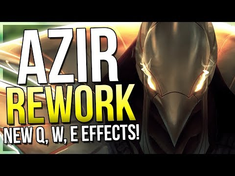 AZIR REWORK IS HERE!! Insane Attack Speed Monster Now! - League of Legends