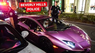 BEVERLY HILLS POLICE VS  LAMBORGHINI OWNER! *UNLAWFUL TICKET??*