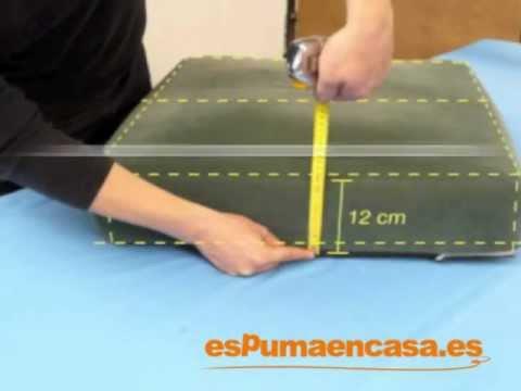 Medir un almohad n nuevo para sof youtube - Como hacer una funda para un sofa ...