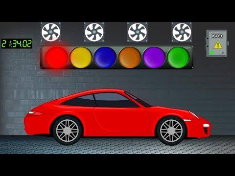 Машинки.  Учим цвета с машинками.  Развивающий Мультфильм для детей