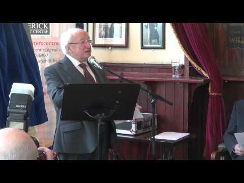 President Michael D. Higgins at White House Bar in Limerick