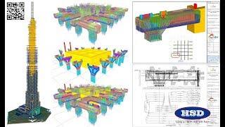 2 phút review ứng dụng Tekla Structures - BIM tại dự án Vinhomes Landmark 81