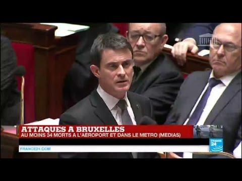 """Attentats de Bruxelles - Manuel Valls à l'Assemblée : """"nous sommes en guerre !"""""""
