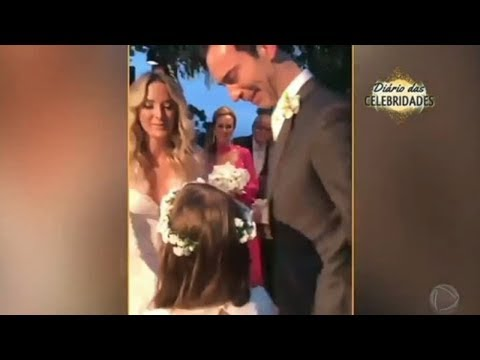Diário das Celebridades: Hoje em Dia mostra detalhes do casamento de Tici Pinheiro e Cesar Tralli