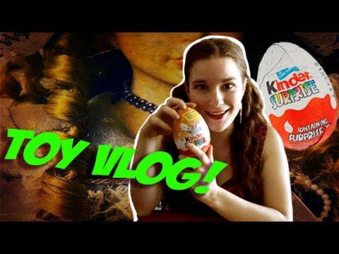 KINDER SURPRISE OPENING + Childhood Toys! (Pixie Talks: Toy Vlog!)