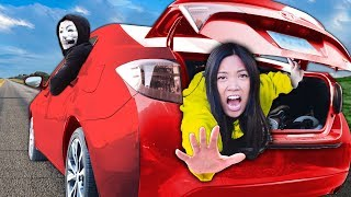 REGINA IS TRAPPED! Spending 24 Hours Stuck in Most Mysterious Hacker Car with PZ9 & his Best Friend