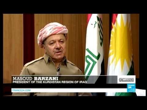 Kurdistan President Masoud Barzani in an exclusive interview with FRANCE 24 on Nov 18, 2014.