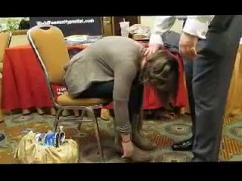 World Hypnotism Day in MA 2013- John Cerbone's Speed Inductions, on Stage - Clip 8