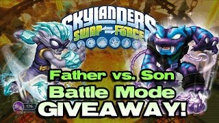 Skylanders Swap Force BATTLE Mode: FREEZE BLADE vs. TRAP SHADOW!