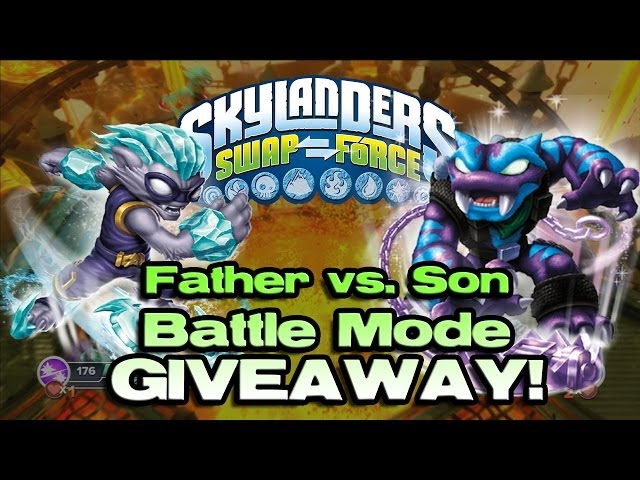 GIVEAWAY! Skylanders Swap Force BATTLE Mode: FREEZE BLADE vs. TRAP SHADOW!