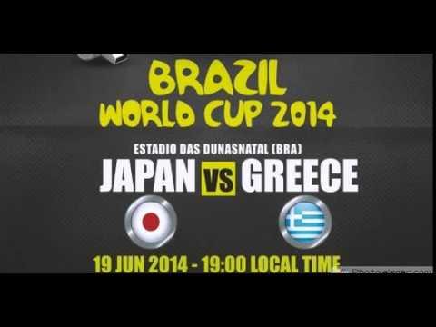 Japan (0 - 0) greece  ギリシャ対日本  그리스 (0 - 0) 일본     مباراة اليابان واليونان (0 - 0)