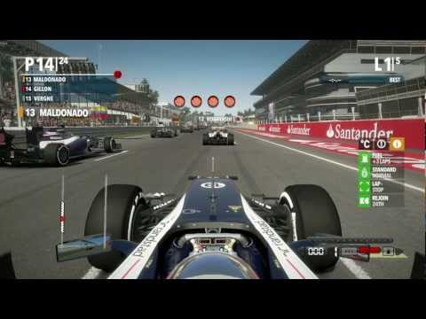 F1 2012 Demo Gameplay (PC) Season Challenge Race 1 **HD**