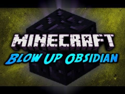 Minecraft: Blow Up Obsidian w/ TNT!
