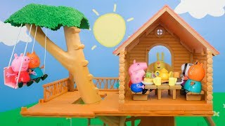 Peppa Pig Treehouse Party with Friends - Peppa Toys