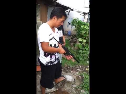 tatay jojo,kuya gino and jo/9mm sub-machine gun