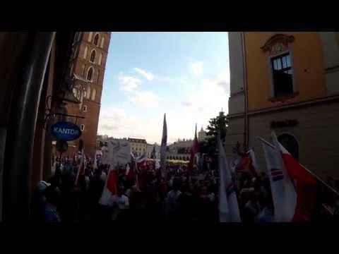 Manifestacja Antyrządowa W Krakowie (Przejście Floriańską) 24.06.2014