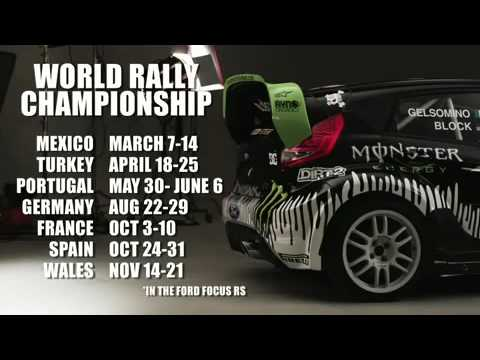 Ken Block's Ford Fiesta and the Monster World Rally Team 2010 Schedule
