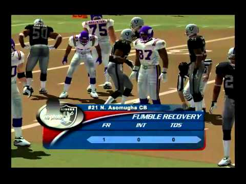 Nfl Gameday 2004 Raiders Vs Vikings Pt 2 Ps2 Hd