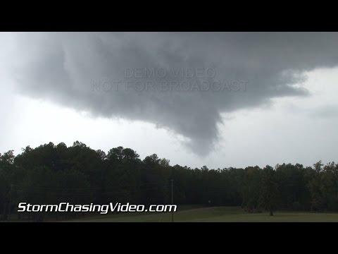10/13/2014 Mississippi Alabama Tornado Warned Storms & Hail B-roll