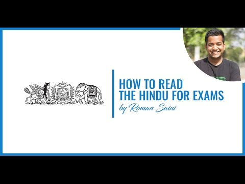 How To Read The Hindu for Competitive Exams By Roman Saini
