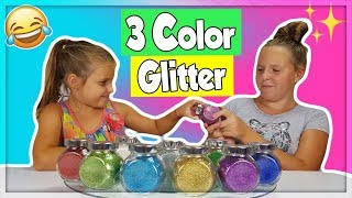 3 COLORS OF GLITTER SLIME CHALLENGE !!!