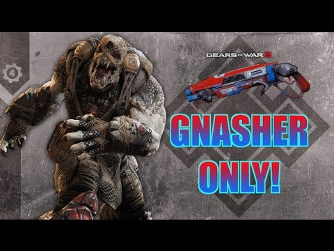 Gears of War 3 | GNASHER ONLY ON CAMPDRIVE! (Live  Commentary)