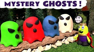 Funny Funlings Spooky Ghosts with Thomas & Friends toy trains Play Doh candy and Tom Moss TT4U