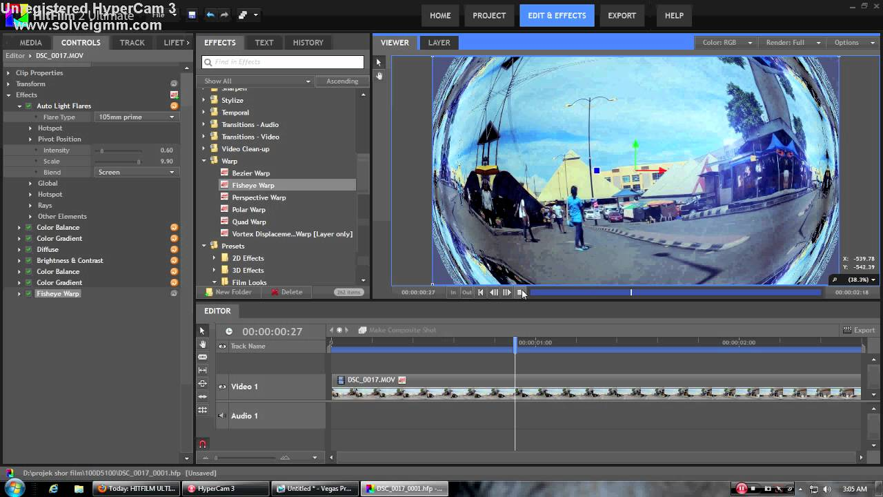 ... SONY VEGAS 12 SUITE with fisheye video effect (mediafire download