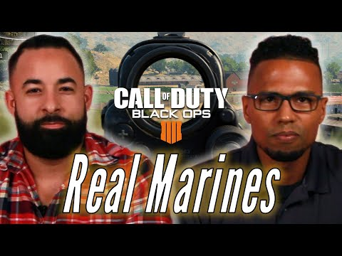 """Real Marines Try To Survive Blackout In """"Call of Duty: Black Ops 4"""""""