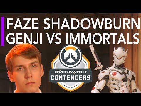 Overwatch Gameplay | FaZe ShaDowBurn Genji VS Immortals ft Carpe Tracer | Overwatch Contenders