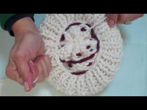 DIY Como hacer gorros de lana con dos agujas
