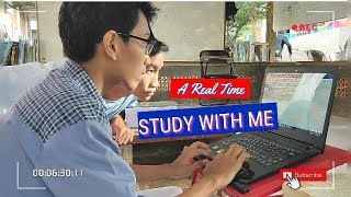 STUDY WITH ME ( no music ) | Quiet Desk A REAL TIME Study Session