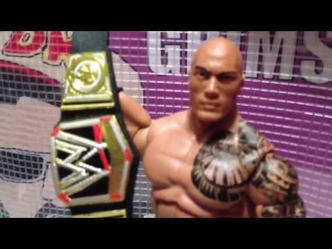 PROMO: Interview with THE ROCK for GTS PAYBITCH parody Mattel ELITE 22 wrestling figures figure