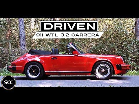 PORSCHE 911 WTL 3 2 CARRERA Convertible 1986 - Full test drive in top gear - Engine sound   SCC TV