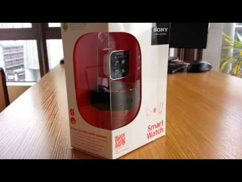 Sony SmartWatch MN2 *RETAIL UNBOXING* Part 1