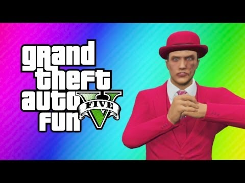 GTA 5 Online Funny Moments - Vestra Plane Fun, Batmobile Attack, Somebody's Gonna Get Hurt! klip izle