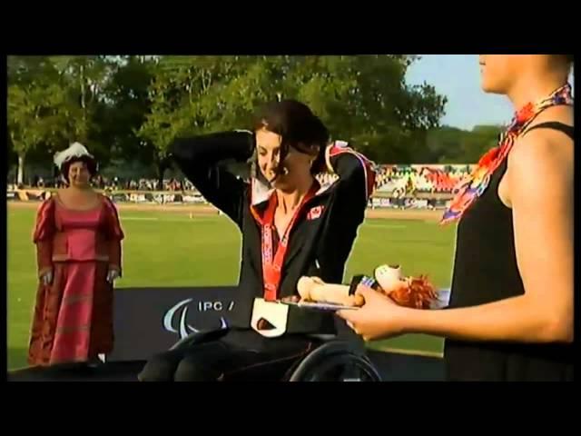 Medal Ceremony for 100m Gold Medallist Michelle Stillwell