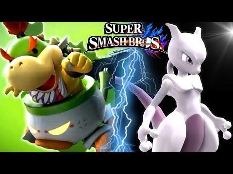 Super Smash Bros Wii U BOWSER JR Trailer, MEWTWO, Ridley & More