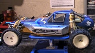 33 Year Old RC Car On The Work Bench - RC10 Vintage Original