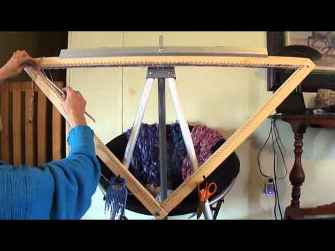 Continuous Strand Weaving On A Triangle Loom (part 1 of 3)