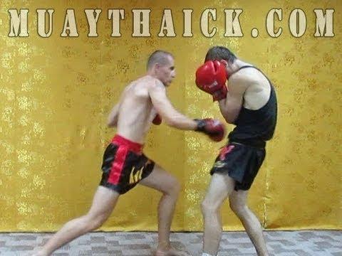 Тайский бокс комбинации - боксёрская серия ударов для улицы