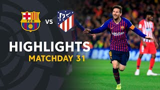Highlights FC Barcelona vs Atletico de Madrid (2-0)