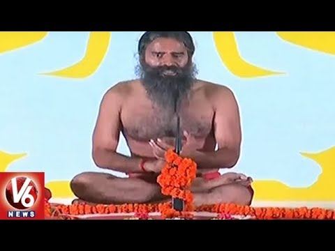 Baba Ramdev Conducts Yoga Session In Tihar Jail | V6 News