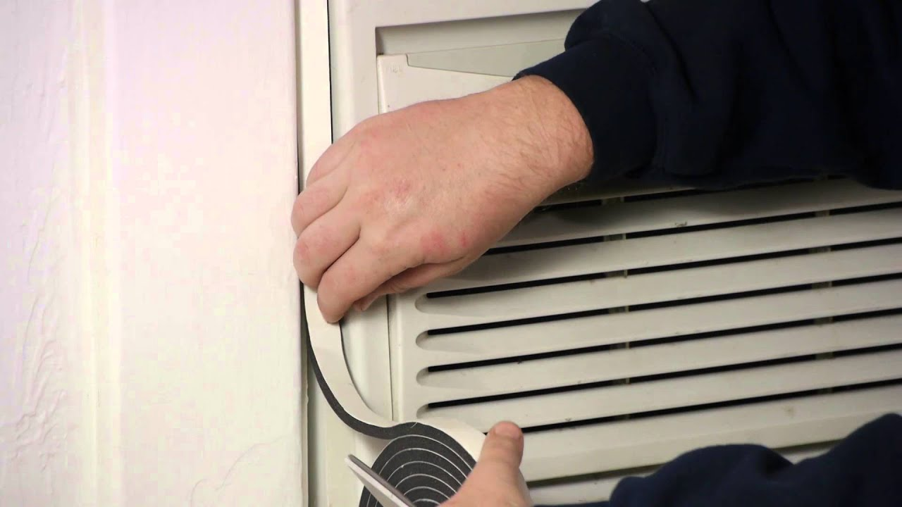 How to Install Air Conditioner Weather Seals : Window Air Conditioners  #8C623F