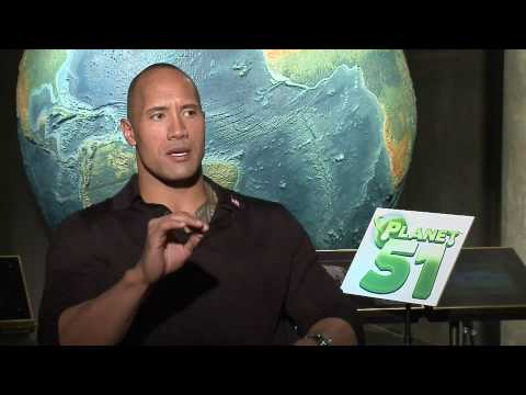 Dwayne The Rock Johnson interview for Planet 51 in HD