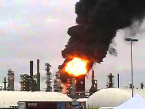 BP Cherry Pt Refinery Fire 2012