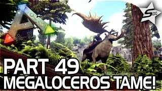 MEGALOCEROS TAMING, RETURN of the Old Base! - ARK Survival Evolved PS4 Gameplay Part 49