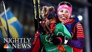 Trailblazing Cross-Country Skier Kikkan Randall Wins Historic Gold | NBC Nightly News