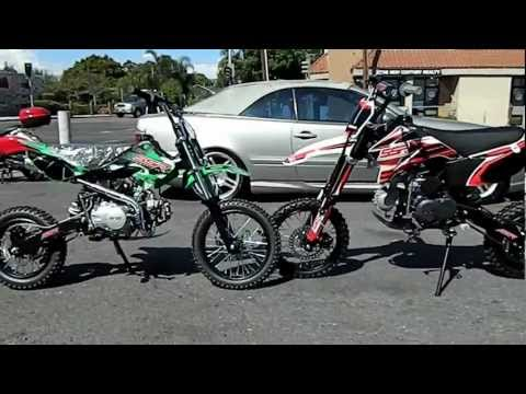 SSR PIT BIKES SR 125cc DIRT BIKE and SSR SR125TR 125cc PIT BIKES COMPARISON by HIGH STYLE